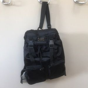 Nine West Black Satin Backpack